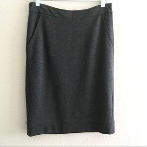 Women's Trina Turk Gray Pencil Skirt Sz 6